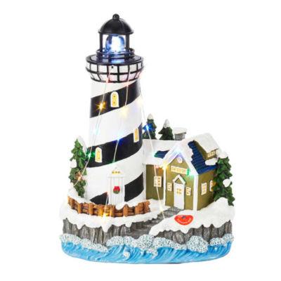 "Kurt Adler 10.25"" Battery-Operated LED Lighthouse Table Piece"