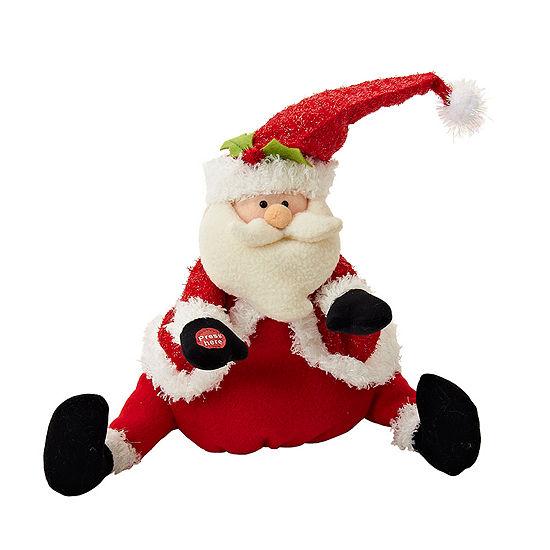 """Kurt Adler 11.5"""" Battery-Operated Plush Singing and Dancing Santa"""