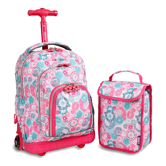 J World Lollipop Wheeled Backpack & Lunch Bag Set