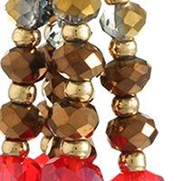 Liz Claiborne Womens 2 Pair Red Jewelry Set