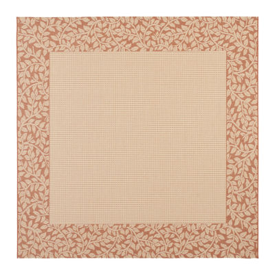 Safavieh Courtyard Collection Chad Oriental Indoor/Outdoor Square Area Rug