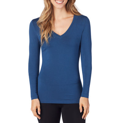 Cuddl Duds Long Sleeve V-Neck Thermal Top