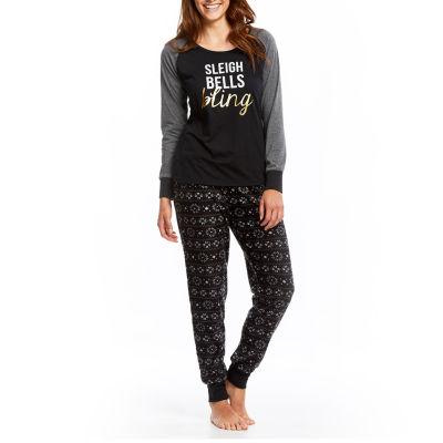 Holiday Famjams Holiday Fam Jams Womens Pant Pajama Set 2-pc. Long Sleeve Family