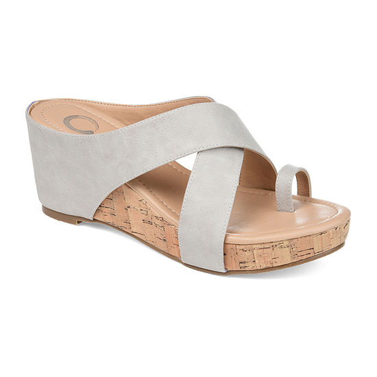 Journee Collection Womens Rayna Wedge Sandals