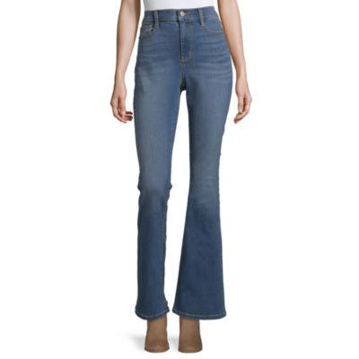 a.n.a Womens High Waisted Modern Fit Flare Jean