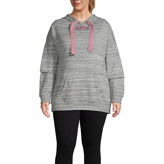 Miss Chievous Plus Womens Hooded Neck Long Sleeve Sweatshirt