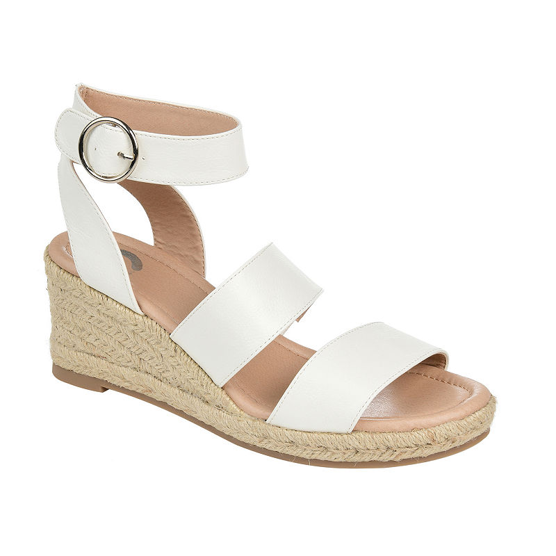 1950s Style Shoes | Heels, Flats, Saddle Shoes Journee Collection Womens Norra Wedge Sandals $63.74 AT vintagedancer.com