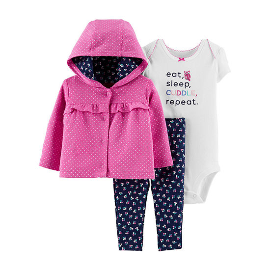 Carter's-Baby Girls 3-pc. Baby Clothing Set
