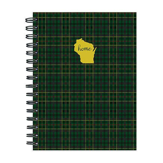 Tf Publishing Wisconsin Green Plaid Journal