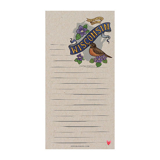 Tf Publishing Wisconsin Magnetic Memo Pad