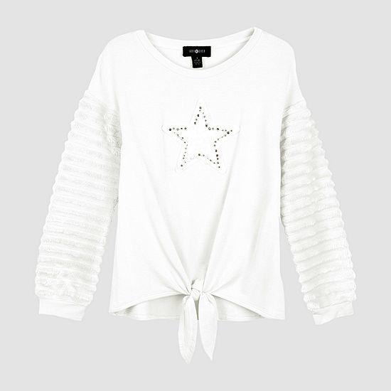 Amy Byer Big Girls Round Neck Long Sleeve Sweatshirt
