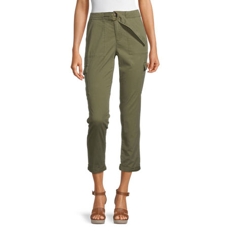 Liz Claiborne Womens Skinny Cargo Pant, 12 , Green