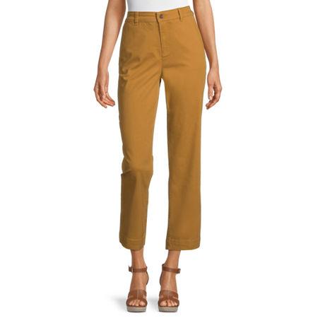 Liz Claiborne Classic Fit Straight Trouser, 6 , Yellow