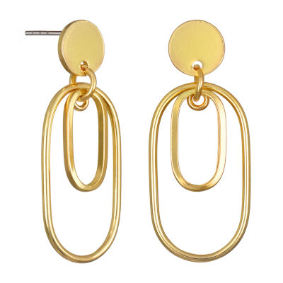 Bijoux Bar Oval Drop Earrings