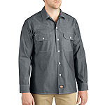 Dickies® Relaxed Fit Long Sleeve Chambray Shirt - Big & Tall