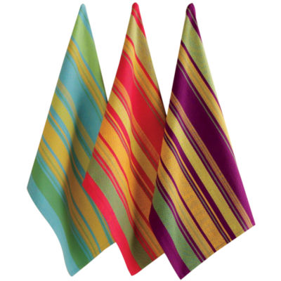 Jardin Stripe Set of 3 Dish Towels