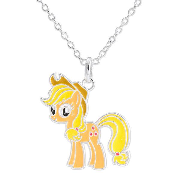 Orange my little pony pendant my little pony applejack pendant necklace mozeypictures Gallery