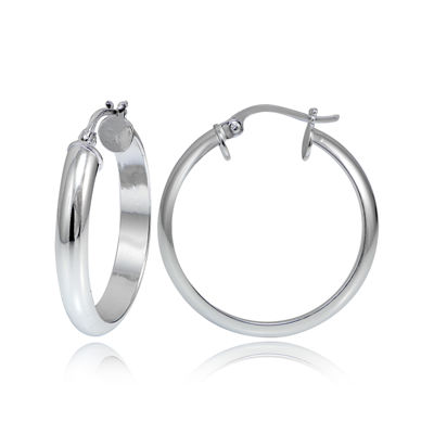 Sterling Silver Round 3MM Hoop Earrings
