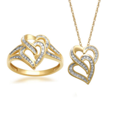 jcpenney.com | Diamond Heart Pendant Necklace or Ring