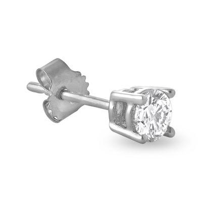 Mens 1/2 CT. T.W. Diamond 14K White Gold Stud Earring