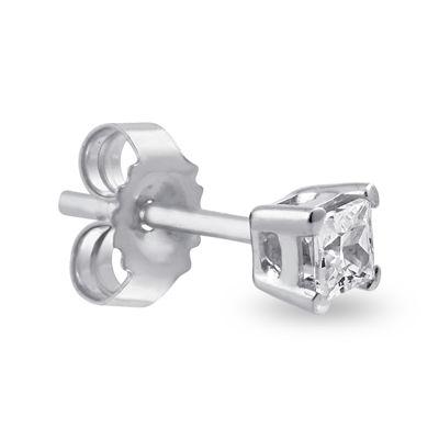 Single 1/8 CT. T.W. Diamond 14K White Gold Stud Earring