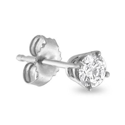 3/8 CT. T.W. Diamond 14K White Gold Single Stud Earring
