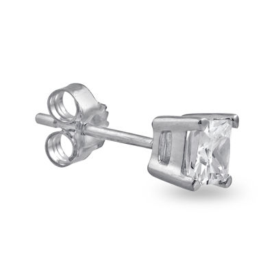 Mens 3/8 CT. Diamond 14K White Gold Stud Earring