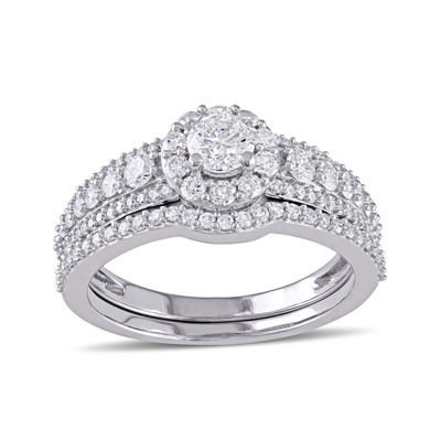 1 CT. T.W. Diamond 14K White Gold Ring Set