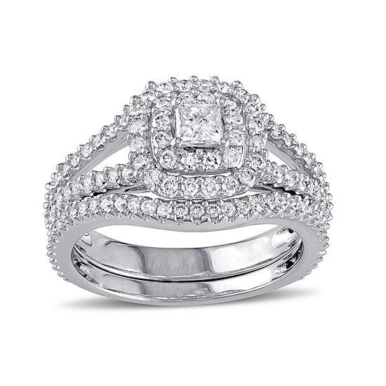 1 1/5 CT. T.W. Diamond 14K White Gold Ring Set