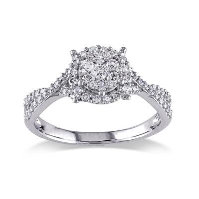 1/2 CT. T.W. Diamond 10K White Gold Ring