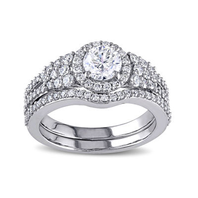 1 1/2 CT. T.W. Diamond 14K White Gold Ring Set