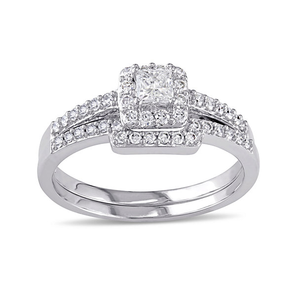 5/8 CT. T.W. Diamond 10K White Gold Ring Set