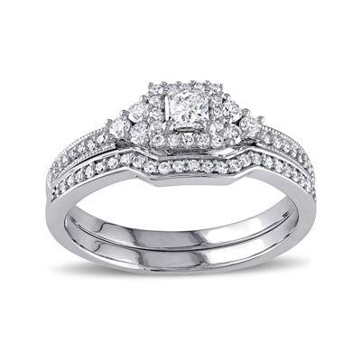 5/8 CT. T.W. Diamond 14K White Gold Ring Set