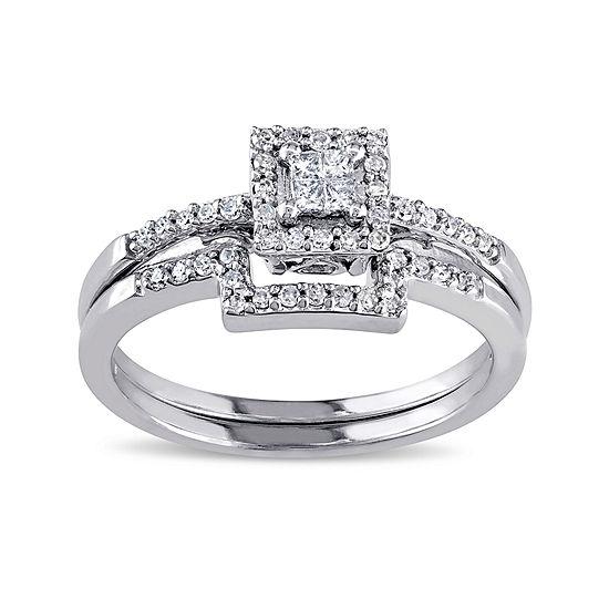 1/3 CT. T.W. Diamond 10K White Gold Ring Set