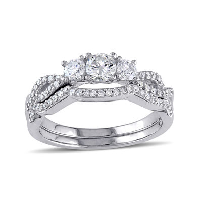 3/4 CT. T.W. Diamond 10K White Gold Ring Set