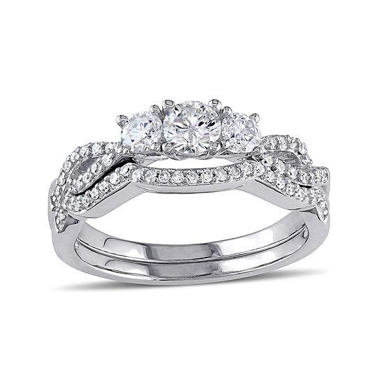 3/4 CT. T.W. Diamond 10K White Gold Ring Set