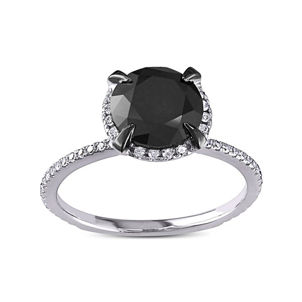 Midnight Black Diamond 2 ¾ CT. T.W. White and Color-Enhanced Black Diamond Engagement Ring