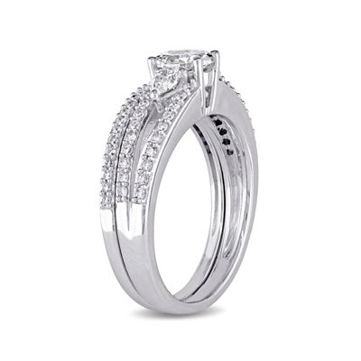 1 1/10 CT. T.W. Diamond 14K White Gold Ring Set