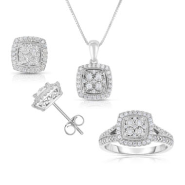 jcpenney.com | TruMiracle® Diamond Ring, Earing Or Pendant In Sterling Silver
