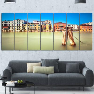Designart Traditional Buildings of Venice Landscape Canvas Wall Art - 5 Panels