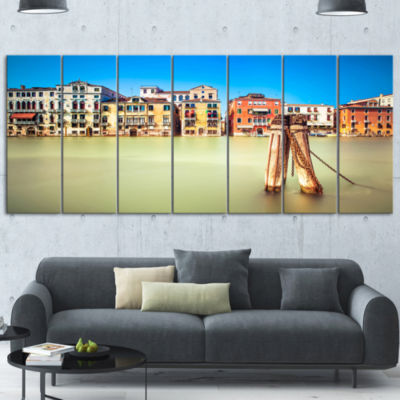 Designart Traditional Buildings of Venice Landscape Canvas Wall Art 6 Panels