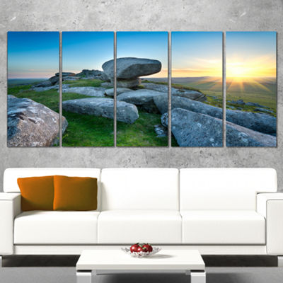 Designart Bodmin Moor Moorland in Cornwall LargeLandscape Canvas Art - 5 Panels