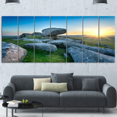 Designart Bodmin Moor Moorland in Cornwall LargeLandscape Canvas Art 6 Panels