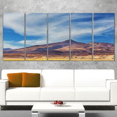 Designart Bright Argentina Mountain Region AfricanLandscape Canvas Art Print - 4 Panels