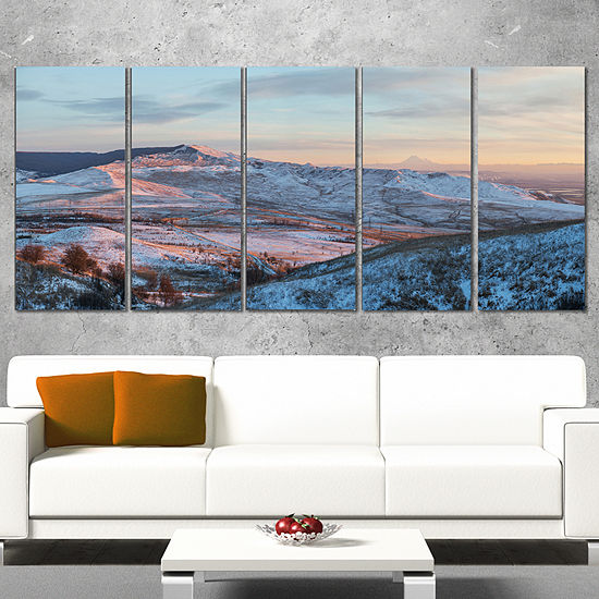 Designart View From Mount Strizhament Landscape Print Wall Artwork - 4 Panels