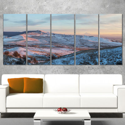 Designart View From Mount Strizhament Landscape Print Wrapped Wall Artwork - 5 Panels
