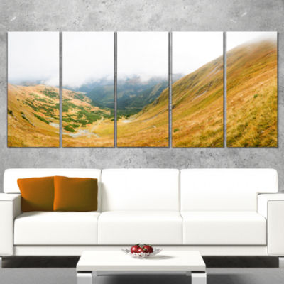 Designart View From Volovec at Tatras Landscape Wrapped ArtPrint - 5 Panels