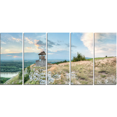 Designart View Tower on Hill Panorama Landscape Canvas Art Print - 5 Panels