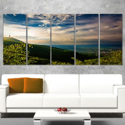 Designart Vitosha Mountain Over Sofia Bulgaria Landscape Canvas Art Print - 5 Panels