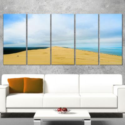 Designart Cala Violina Bay Beach Tuscany OversizedLandscapeWrapped Wall Art Print - 5 Panels